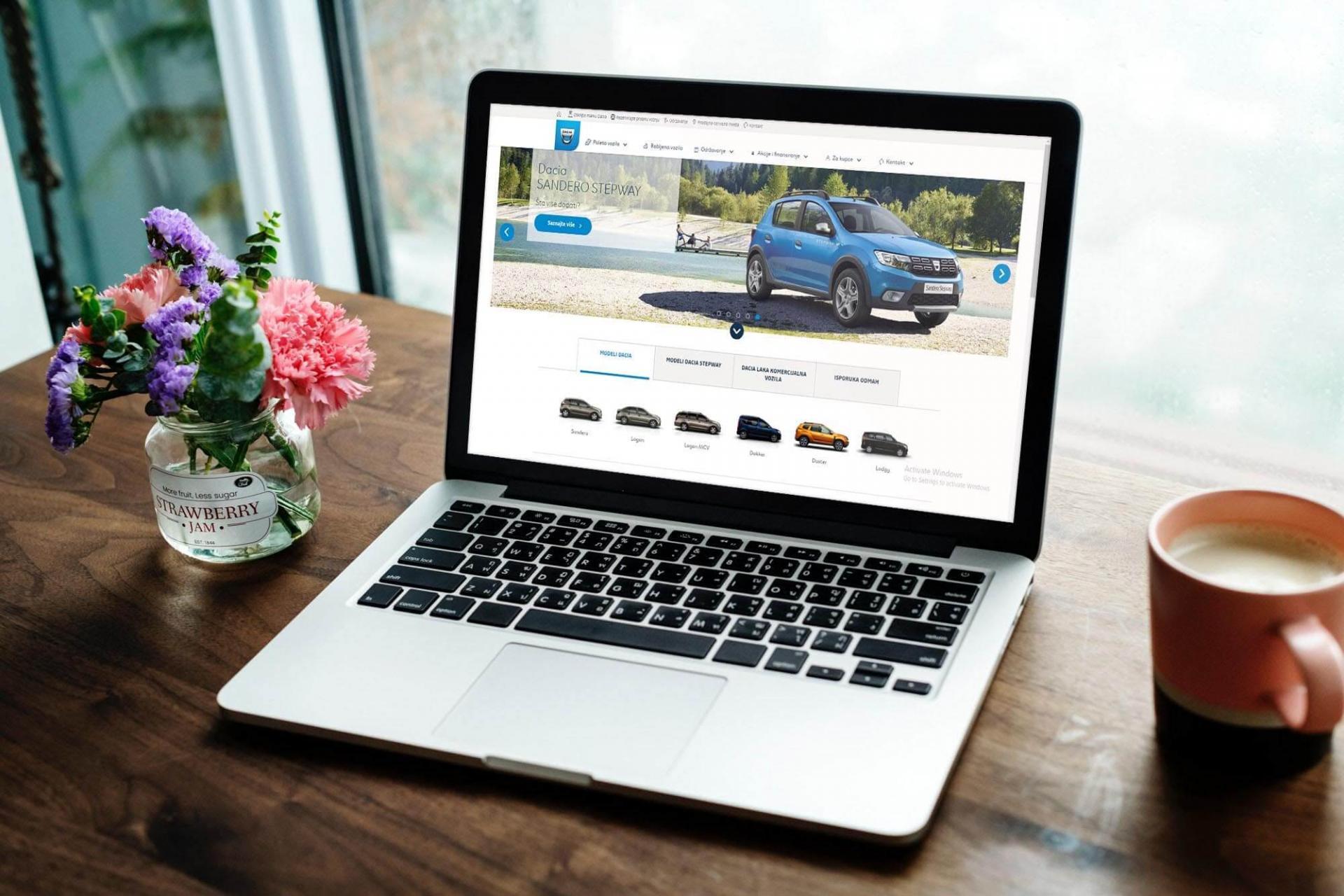 Dacia web application