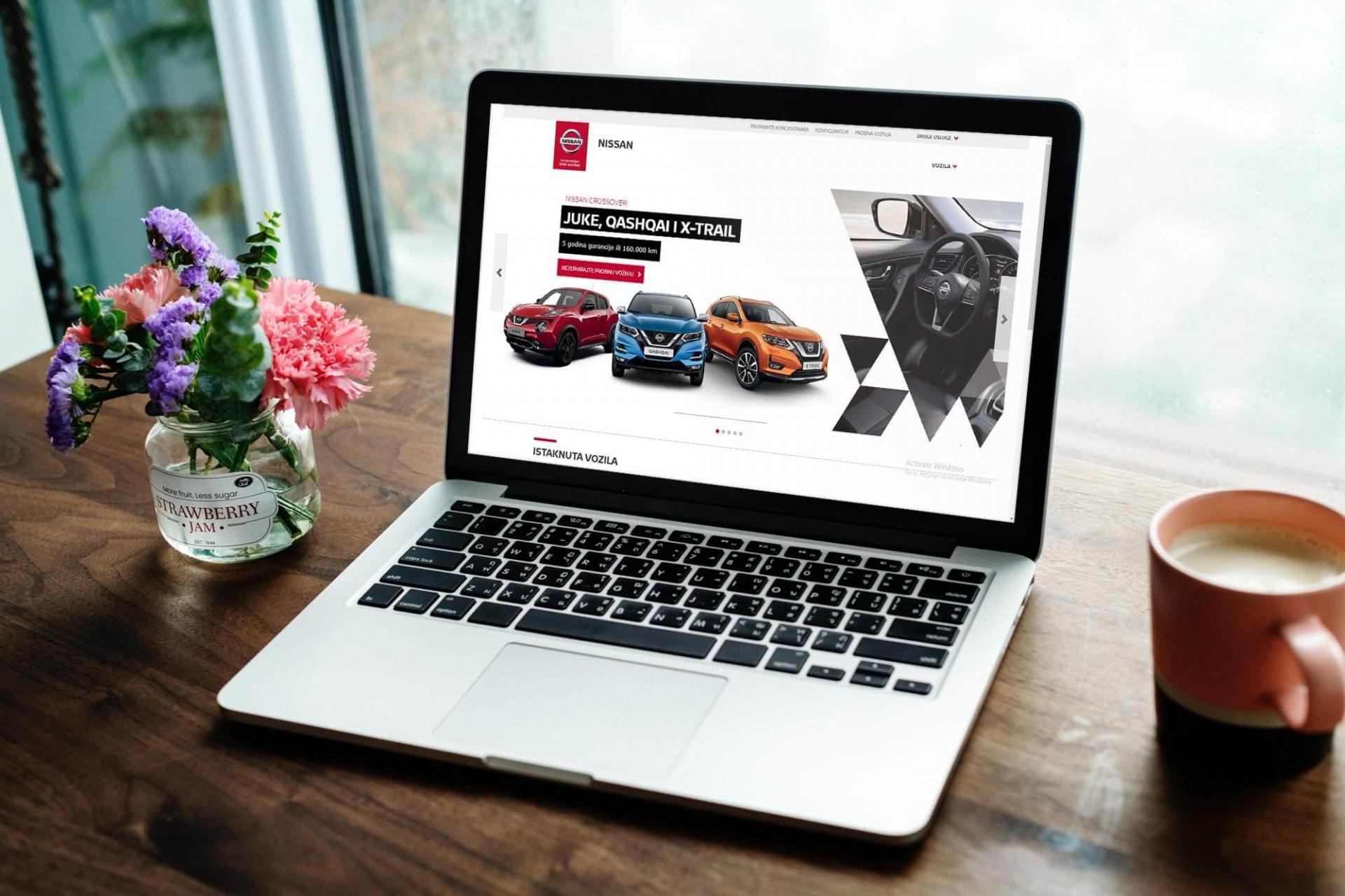 Nissan web application