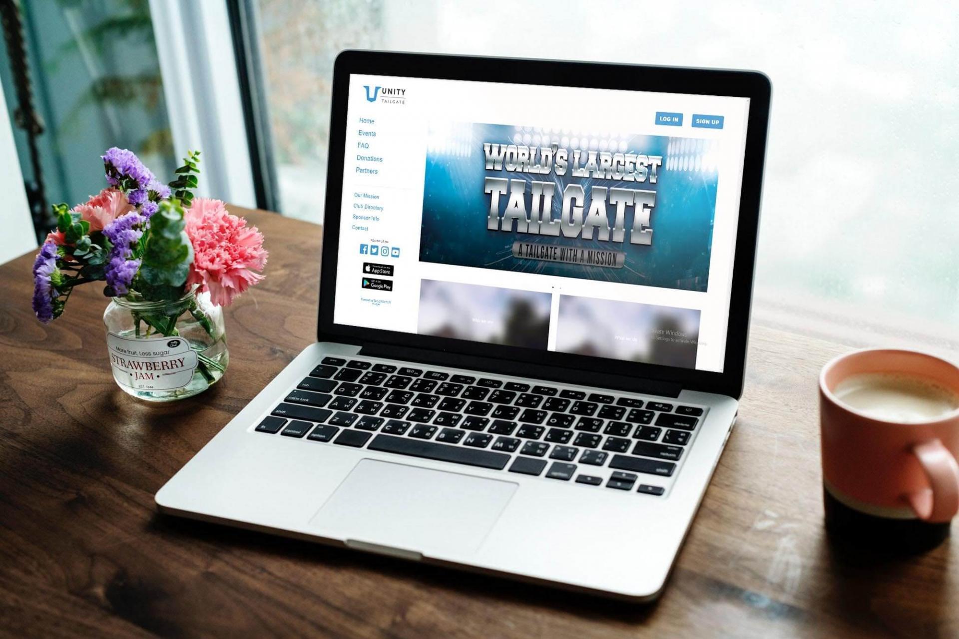 Unity tailgate website